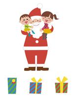 サンタクロースと子ども・プレゼント