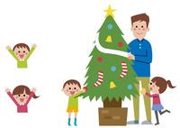 クリスマスツリー・家族