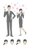 新入社員の女性と男性