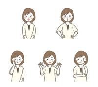 お母さん表情5パターン