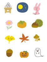 イラストアイコン・秋 10423001094| 写真素材・ストックフォト・画像・イラスト素材|アマナイメージズ