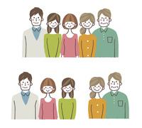 家族バストアップ 10423001130| 写真素材・ストックフォト・画像・イラスト素材|アマナイメージズ