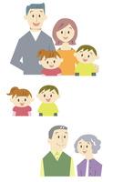 家族バストアップ 10423001140| 写真素材・ストックフォト・画像・イラスト素材|アマナイメージズ