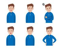 男性の表情6パターン