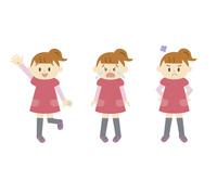 女の子表情3パターン 10423001175| 写真素材・ストックフォト・画像・イラスト素材|アマナイメージズ