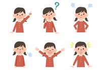 女の子の表情6パターン 10423001185| 写真素材・ストックフォト・画像・イラスト素材|アマナイメージズ