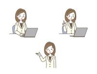 オペレーター女性 3パターン