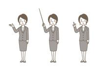 女性 案内3パターン