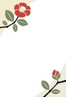 椿の年賀状