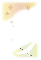 年賀状・鶴 10423001243| 写真素材・ストックフォト・画像・イラスト素材|アマナイメージズ