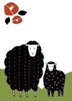 黒い羊と椿