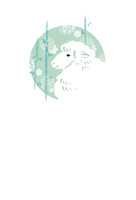 ひつじと竹の年賀状