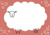ピンクの羊のフレーム