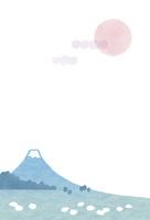 富士山のふもとで放牧されている羊・縦
