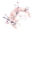 ひつじと梅の年賀状