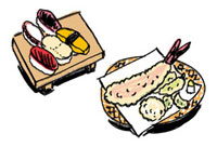 江戸前寿司とてんぷら 10424000026| 写真素材・ストックフォト・画像・イラスト素材|アマナイメージズ