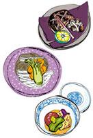 京懐石 焼物と酢肴と強肴 10424000031| 写真素材・ストックフォト・画像・イラスト素材|アマナイメージズ