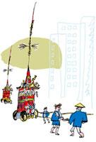 祇園祭 10424000034| 写真素材・ストックフォト・画像・イラスト素材|アマナイメージズ