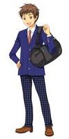 男子高校生一人 全身図 10425000003| 写真素材・ストックフォト・画像・イラスト素材|アマナイメージズ