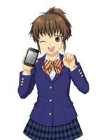 スマートフォンを持つ女子学生