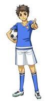サッカーボールを持ち指を指す男子 10425000035| 写真素材・ストックフォト・画像・イラスト素材|アマナイメージズ