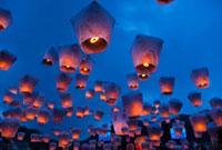 平渓十分の天燈祭りランタン祭り