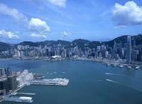スカイ100の100階から見た香港島のビル街