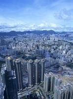 スカイ100の100階から見た九龍半島のビル街