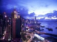 香港島のビル街の夕景 10430000562| 写真素材・ストックフォト・画像・イラスト素材|アマナイメージズ