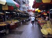 市場の果物