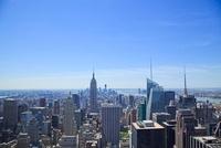 ロックフェラーセンターより望むニューヨーク市街 10430003880| 写真素材・ストックフォト・画像・イラスト素材|アマナイメージズ