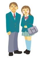 高校生の男女 10431000012| 写真素材・ストックフォト・画像・イラスト素材|アマナイメージズ