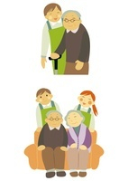 介護士と老夫婦