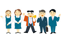 働く人々(会社員,ビジネスマン,OL,事務員)