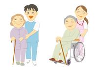 医療現場で働く人々(医者、看護婦、看護師、介護福祉士)