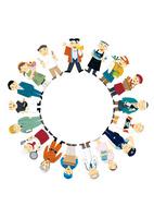 働く人々の輪