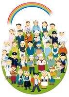 働く人々の集合体