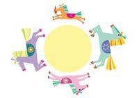 午年年賀状 馬の親子 10431000114| 写真素材・ストックフォト・画像・イラスト素材|アマナイメージズ