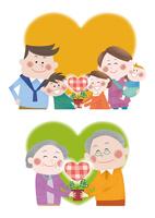 伸びゆく若葉と三世代家族の明るい未来