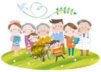 医者・看護師と三世代家族