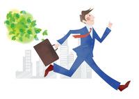 走るビジネスマン 10431000200| 写真素材・ストックフォト・画像・イラスト素材|アマナイメージズ
