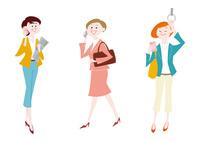 オフィスに通勤する・携帯電話を持つ女性