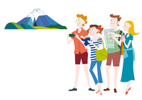 外国人観光客の日本観光 富士山
