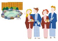 外国人観光客の日本観光 温泉旅行