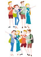 観光を楽しむ外国人の集団