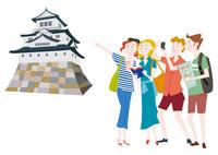 外国人観光客の日本観光 日本の城
