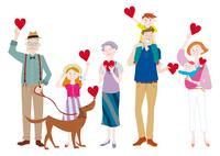 ハートを持つ三世代家族 10431000371| 写真素材・ストックフォト・画像・イラスト素材|アマナイメージズ