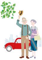 車で出かけるおしゃれな老夫婦 10431000372| 写真素材・ストックフォト・画像・イラスト素材|アマナイメージズ