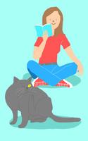 猫と女の子 10434000015| 写真素材・ストックフォト・画像・イラスト素材|アマナイメージズ