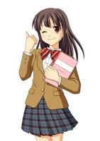 ノートを抱えてウインクをする女子生徒 10438000055| 写真素材・ストックフォト・画像・イラスト素材|アマナイメージズ